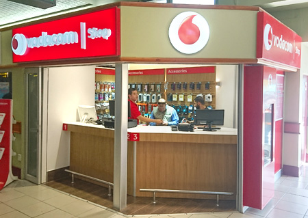 vodacom shop Port Elizabeth Airport